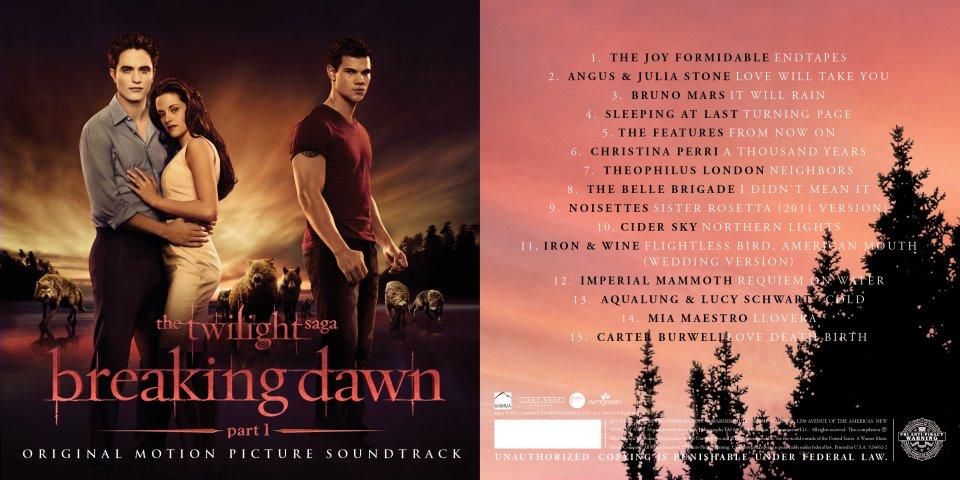 Breaking Dawn Part 1 soundtrack